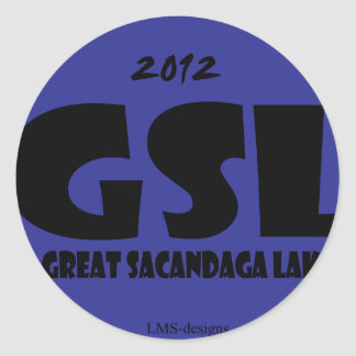GSL Blue D Classic Round Sticker