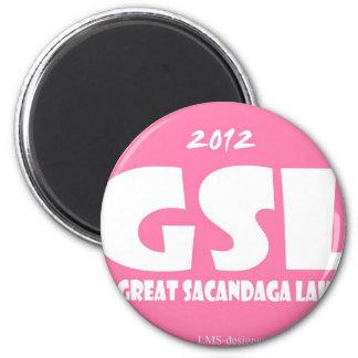 GSL Pink 6 Cm Round Magnet