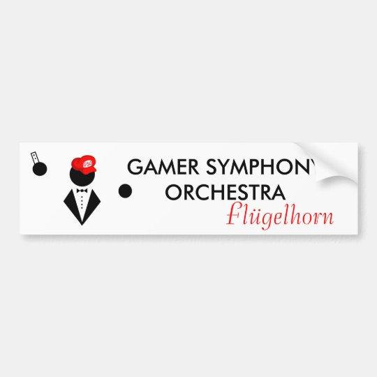 GSO Flügel Bumper Sticker