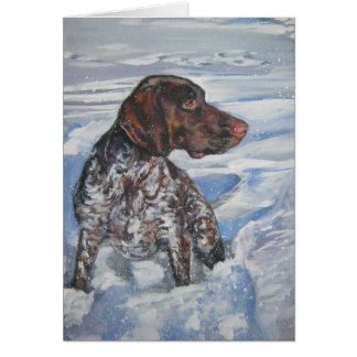 gsp German Shorthaired pointer Christmas Card