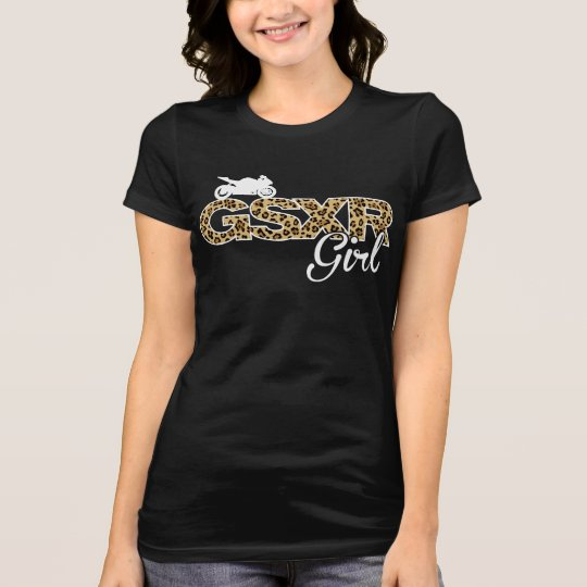 GSXR Girl-Leopard with back print T-Shirt