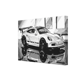 GT3 Black'n'White - Photoworks Jean Louis Glineur Canvas Print