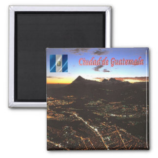 GT - Guatemala - City At Night Magnet