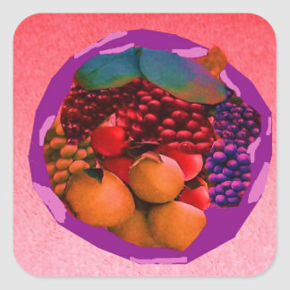 gtapes3.JPG food image for kitchens, dishes,mats, Square Sticker