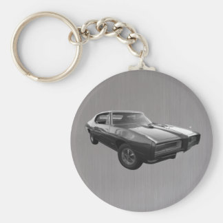 GTO in 1968 brushed steel Key Ring