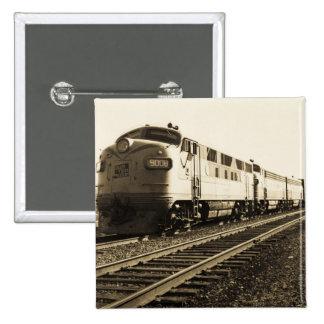 GTW Diesel Engine #9008 Train #92 Eastbound 15 Cm Square Badge