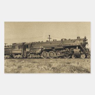 GTW Engine #6312 at Battle Creek, MI 1954 Rectangular Stickers
