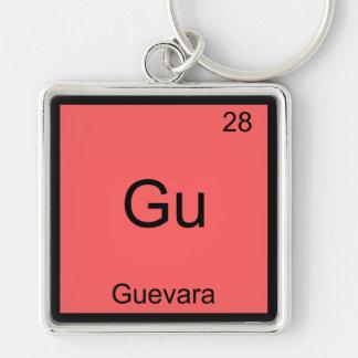 Gu - Guevara Funny Chemistry Element Symbol Tee Key Chain