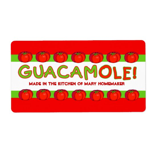 GUACAMOLE Labels for Customising