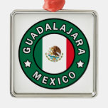 Guadalajara Mexico Silver-Colored Square Decoration