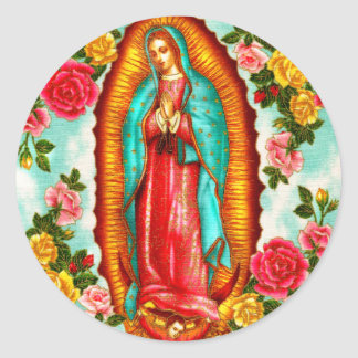 Guadalupe Classic Round Sticker