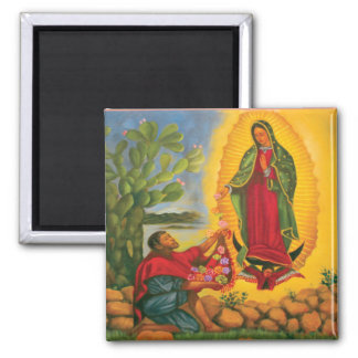 Guadalupe Prayer Square Magnet