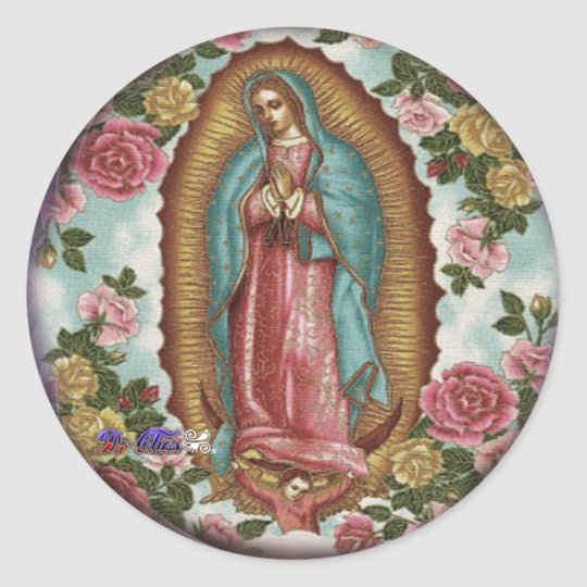 GUADALUPE VIRGEN CUSTOMIZABLE PRODUCTS CLASSIC ROUND STICKER