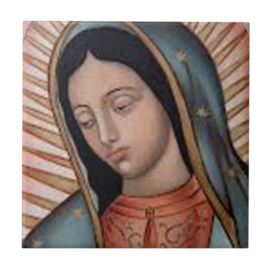 GUADALUPE VIRGIN FACE PRODUCTS SMALL SQUARE TILE