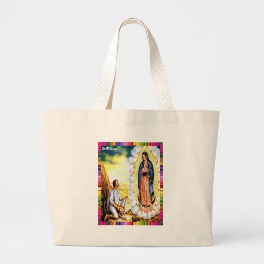 GUADALUPE VIRGIN  MEXICO 17 CUSTOMIZABLE PRODUCTS LARGE TOTE BAG