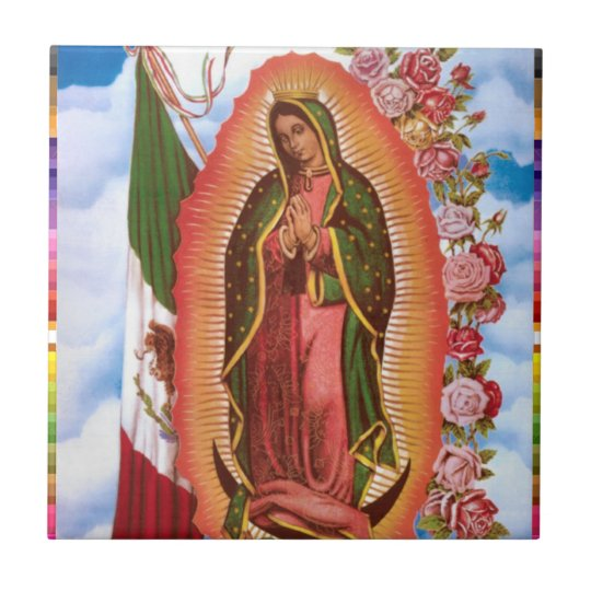 GUADALUPE VIRGIN  MEXICO 22 CUSTOMIZABLE PRODUCTS SMALL SQUARE TILE