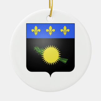 Guadeloupe (France) Coat of Arms Christmas Ornament