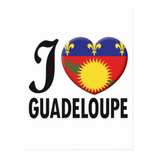 Guadeloupe Love Postcard