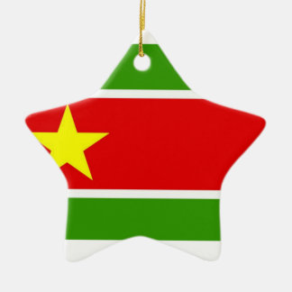 Guadelupe Flag Double-Sided Star Ceramic Christmas Ornament