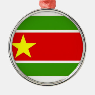 Guadelupe Flag Round Metal Christmas Ornament
