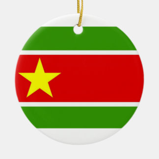 Guadelupe Flag Double-Sided Ceramic Round Christmas Ornament