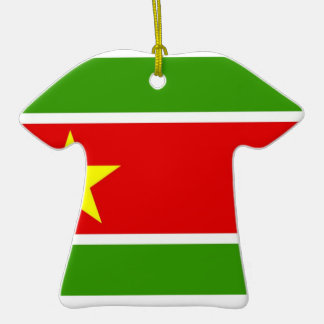 Guadelupe Flag Double-Sided T-Shirt Ceramic Christmas Ornament