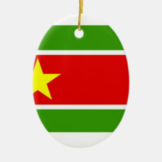 Guadelupe Flag Double-Sided Oval Ceramic Christmas Ornament