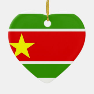 Guadelupe Flag Double-Sided Heart Ceramic Christmas Ornament