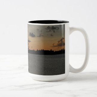 Guahan Sunset Two-Tone Coffee Mug