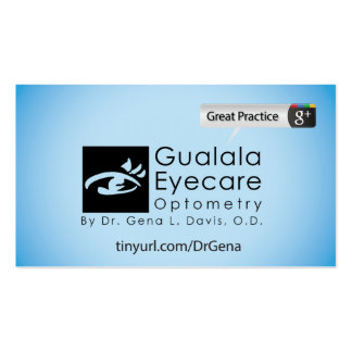 Gualala Eyecare Double-Sided Standard Business Cards (Pack Of 100)