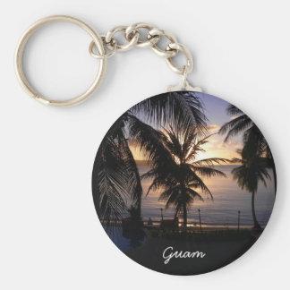 Guam Basic Round Button Key Ring