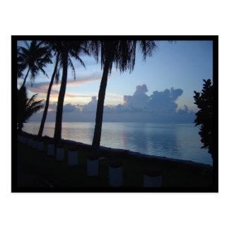 Guam Beach Park Sunset Postcard