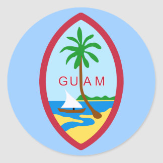 Guam Coat of Arms Classic Round Sticker