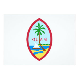 Guam Coat of Arms Personalized Invite