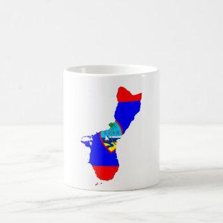 guam country flag map shape silhouette coffee mug