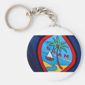 Guam flag basic round button key ring
