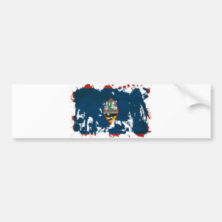 Guam Flag Bumper Sticker