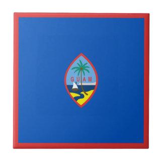 Guam Flag Ceramic Tile