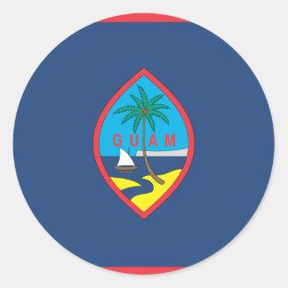 GUAM FLAG CLASSIC ROUND STICKER