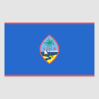 Guam Flag GU Rectangular Sticker