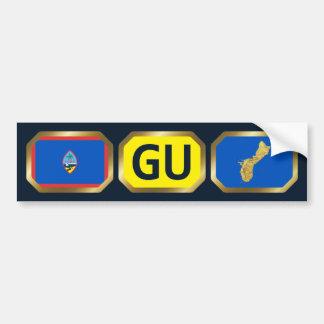 Guam Flag Map Code Bumper Sticker