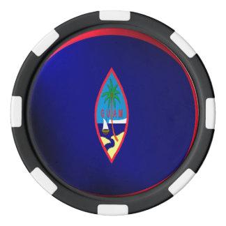 Guam flag poker chips