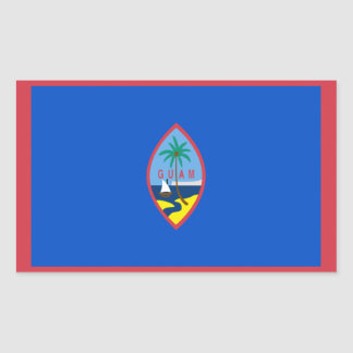 Guam Flag Rectangular Sticker