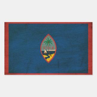 Guam Flag Rectangular Sticker