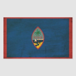 Guam Flag Rectangle Sticker