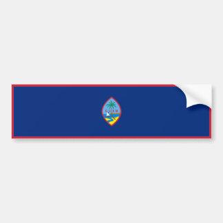 Guam Flag. United States, USA, U.S.A. Bumper Sticker