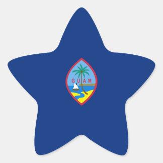 Guam Flag. United States, USA, U.S.A. Star Sticker