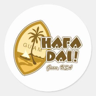 Guam Hafa Dai Classic Round Sticker