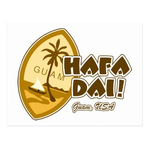 Guam Hafa Dai Postcard