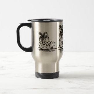 guam in black & white travel mug